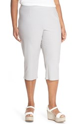 Plus Size Women's Eileen Fisher Stretch Jersey Slim Capri Pants Silver