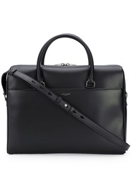 Saint Laurent Classic Logo Briefcase Black