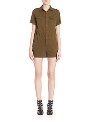 Ag Adriano Goldschmied Rhoda Short Jumpsuit Green