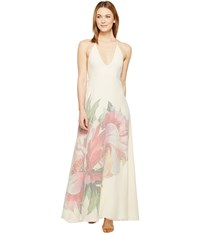 Brigitte Bailey Selma Backless Long Dress Cream Pink Women's Dress Bone