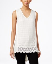 Styleandco. Style And Co. V Neck Sleeveless Top Only At Macy's Av Natural