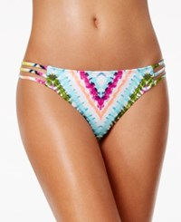Bar Iii Dana Tie Dyed Strappy Hipster Bikini Bottoms Only At Macy's Women's Swimsuit Tie Dye Multi