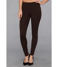 Hue Ponte Double Knit Leggings Espresso Women's Casual Pants Brown