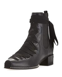 Altuzarra Leather Lace Up Block Heel Boot Black