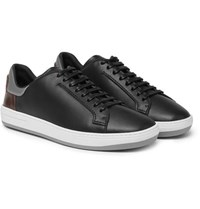 Berluti Panelled Leather Sneakers Black