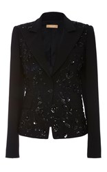 Michael Kors Embroidered Dinner Jacket Black