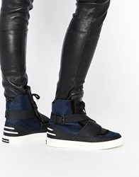 Religion Comeback High Top Trainers Blacknavy