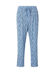 White Stuff Katie Printed Pant Blue