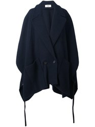Chalayan Pocket Poncho Coat Blue