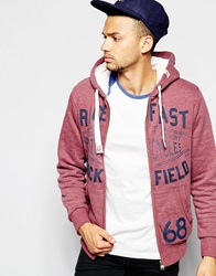Tokyo Laundry Fleece Lined Zip Through Hoodie Red