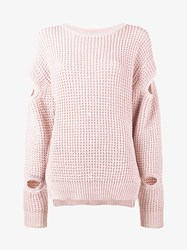 Preen By Thornton Bregazzi Waffle Knit Jumper Pink Purple