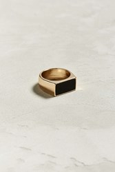 Urban Outfitters Uo Black Rectangular Ring