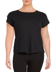 Marc New York Draped Back Athletic Top Black