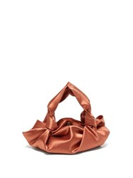 The Row Ascot Satin Clutch Coral