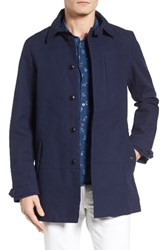 Scotch And Soda Men's Blauw Trench Coat