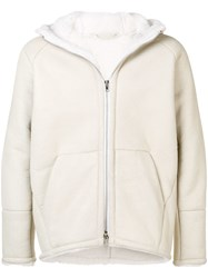 Salvatore Santoro Hooded Shearling Jacket White
