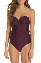 Ted Baker 'S London Ruffle Cupped Convertible One Piece Swimsuit Grape