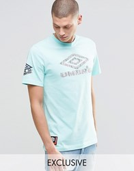 Umbro By Kim Jones Umbro T Shirt With Aztec Logo Aruba Green