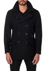 Jared Lang Men's Wool Blend Double Breasted Peacoat