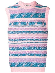 Acne Studios Jacquard Knitted Vest Pink