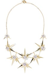 Noir Jewelry Orionis Gold Tone Crystal Necklace One Size