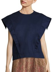 A Detacher Esther Cotton Blouse Navy