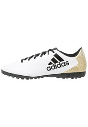 Adidas Performance X 16.4 Tf Astro Turf Trainers White Core Black Gold Metallic