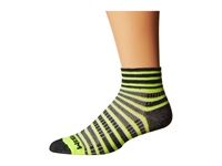 Wrightsock Coolmesh Ii Quarter Stripes 3 Pack Yellow Black White Quarter Length Socks Shoes