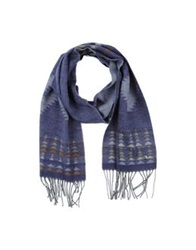 Hamaki Ho Oblong Scarves Dark Blue