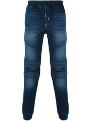 Philipp Plein Biker Sweatpants Men Cotton Spandex Elastane 29 Blue