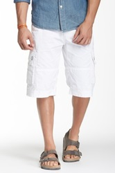 Antique Rivet Hans Cargo Short White