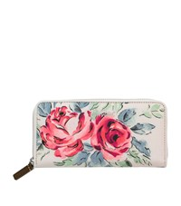 Cath Kidston Birthday Rose 25Th Anniversary Continental Wallet Ivory