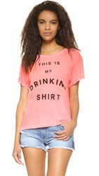 Wildfox Couture Drinking Shirt Neon Sign Pink