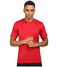 Nike Legend 2.0 Short Sleeve Tee Gym Red Black Black Men's T Shirt