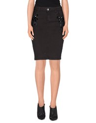 Blumarine Denim Denim Skirts Women Dark Brown