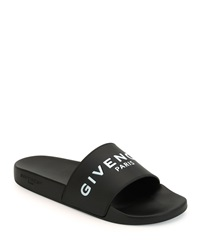 Givenchy Pool Slide Sandals Black White