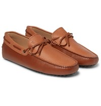 Tod's Gommino Leather Driving Shoes Tan