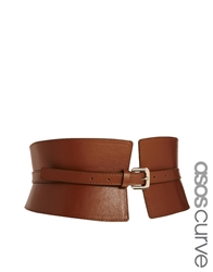 Asos Curve Wide Waist Cincher Belt Tan