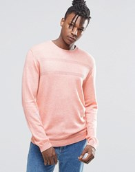 Asos Merino Mix Jumper With Textured Stitch Veiled Rose Pink