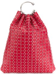 Red Valentino Studded Tote Red