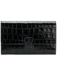 Aspinal Of London Classic Travel Wallet Patent Leather Black
