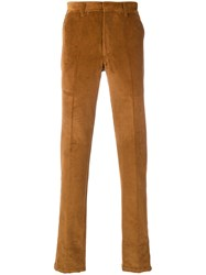 The Gigi Corduroy Trousers Yellow And Orange