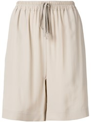 Rick Owens Loose Fit Shorts Nude Neutrals