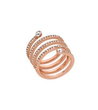 Michael Kors Pave Rose Gold Tone Coil Ring