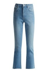 French Connection Ash Denim Cropped Kick Flare Jeans Blue