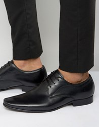 Dune Rayon Leather Derby Shoes Black
