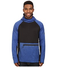 686 Glcr Exploration Pullover Tech Fleece Cobalt Heather Color Block Men's Fleece Blue