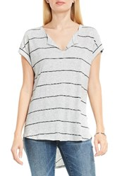 Vince Camuto Women's Two By Chevron Back Stripe Knit Top