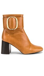 See By Chloe Hopper Bootie In Brown. Cuoio