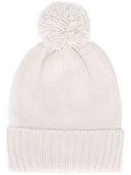 Woolrich Knitted Pompom Hat White